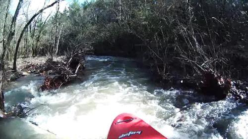 Just below put-in