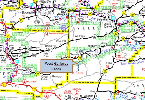 West Gaffords location